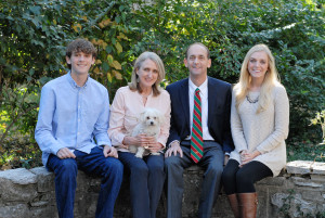 "The campaign site for Tom Schweich's campaign for governor has been replaced with this photo of his family and the message, ""Please join with all Missourians in praying for Tom's family, including his wife Kathy and children, Emilie and Thomas, Jr."""