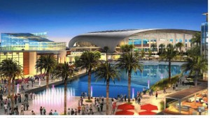 (Screen capture from LATimes.com, showing Kroenke's layout for Inglewood Stadium)