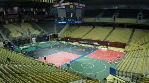 Over 1,000 wrestling matches will take place this weekend at Mizzou Arena for the 2015 State Wrestling Championships (photo/MSHSAA)