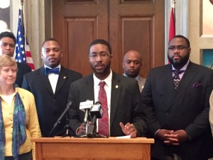 Missouri Legislative Black Caucus vice chairman Brandon Ellington
