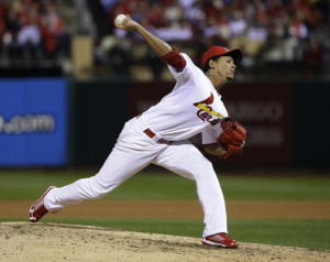 Carlos Martinez is the Cardinals' fifth starter (file photo/Bill Greenblatt, UPI)