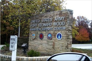 The gate at Fort Leonard Wood