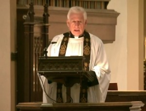 Former U.S. Senator John Danforth delivers the eulogy at the memorial service for Tom Schweich.