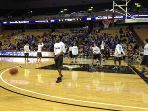 Springfield Hillcrest warms up prior to the start of the Boys Class 4 semifinal