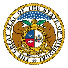 The Missouri State Seal is Missouri's first official symbol, adopted in 1822.  Since then 27 more have been adopted including the official state dinosaur, hypsibema missouriense; the official state song, the Missouri Waltz; and the official state dessert, the ice cream cone.  (Courtesy; Missouri Secretary of State's office)