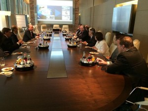 Governor Jay Nixon and other Missouri trade delegation members meet with BMW executives in Munich, Germany.  (courtesy; Governor Nixon's Twitter account, @GovJayNixon)