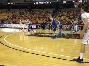 Scott County vs. Crane in the Boys Class 2 semifinal game at Mizzou Arena