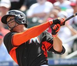 Miami's Giancarlo Stanton. (photo/MLB.com)