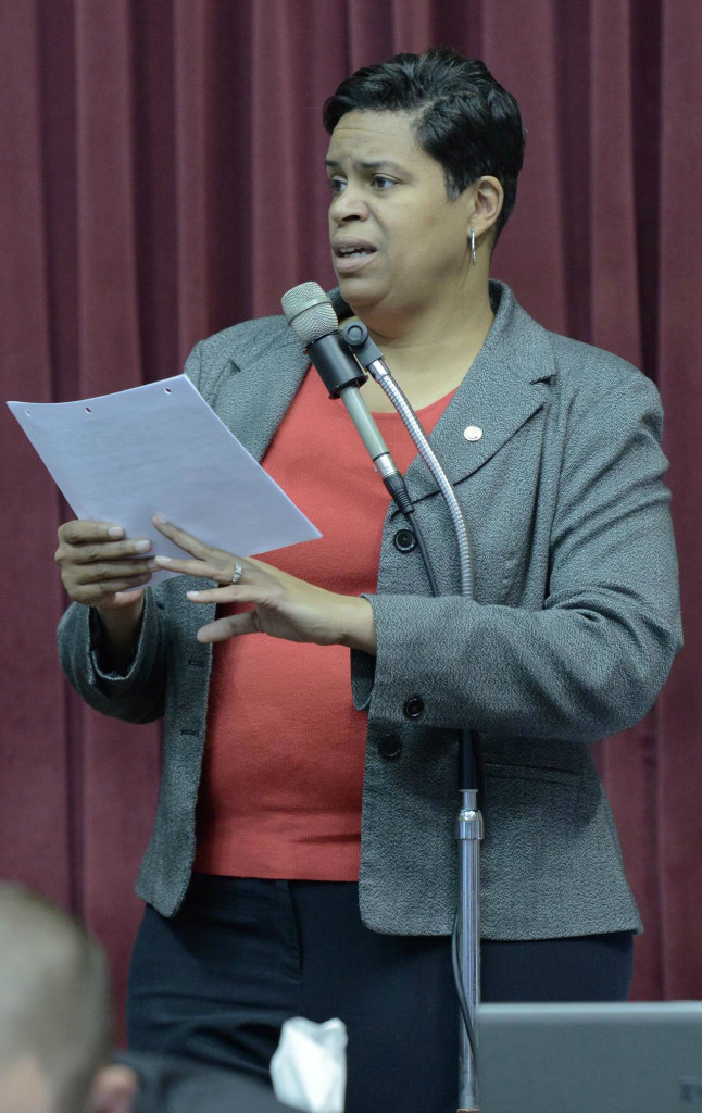 "Representative Gail McCann Beatty is the ranking Democrat on the House budget committee.  In a caucus statement she accused Republican leadership of, ""Jamming through a budget while denying lawmakers and the public any chance to adequately review it."""