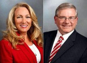 Senators Jeanie Riddle (left) and Dan Hegeman (photos courtesy; Missouri Senate Communications)