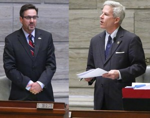 Senators Kurt Schaefer (left) and Rob Schaaf (right)  (photos courtesy; Missouri Senate Communications)