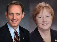 Senator Scott Sifton (left) and Representative Jeanne Kirkton.