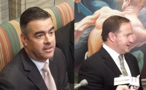 Senate President Tom Dempsey (left) and House Speaker John Diehl