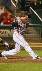 Blake Graham at the NCAA Baseball Regional  vs Iowa (photo/MSU Athletics)