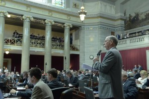Representative David Wood carried the transfer legislation in the House.  (photo courtesy; Tim Bommel, Missouri House Communications)