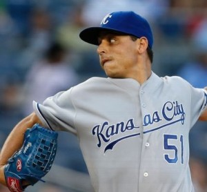Jason Vargas is now 0-5 against the Yankees after pitching four innings on Tuesday night.