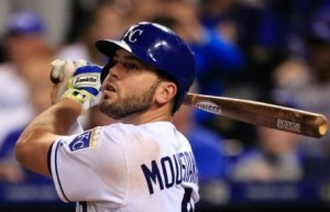 Mike Moustakas finished a homer shy of hitting for the cycle.