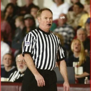 Representative Paul Fitzwater officiating a game.  (Courtesy; Rep. Fitzwater's Twitter page, @rep_fitzh20)