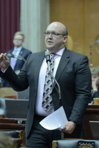 Representative Robert Cornejo handled the municipal courts bill in the House.  (photo courtesy; Tim Bommel, Missouri House Communications)