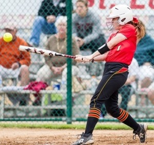 Missouri-St. Louis (pictured) and Central Missouri can represent our state at the D-II softball World Series (photo/umsltritons.com)