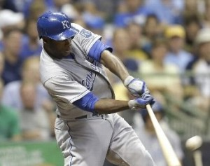 Lorenzo Cain led the Royals in the win over his former team.
