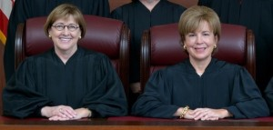 The two-year term of Missouri Supreme Court Chief Justice Mary Rhodes Russell (right) ends June 30, and she will remain on the Court.  Judge Patricia Breckenridge (left) will become chief justice July 1.