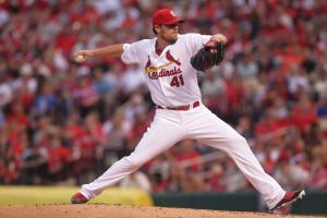 St. Louis Cardinals starting pitcher John Lackey will start the series finale against Milwaukee. Photo by Bill Greenblatt/UPI