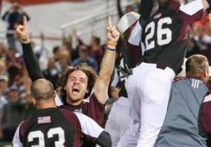 Missouri State celebrates their Regional Championship. (photo/MSU Athletics)