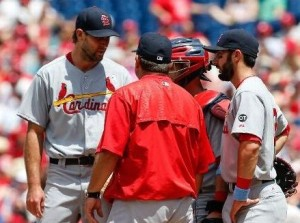 Michael Wacha lost for the third time in five starts after starting the season 7-0. (photo/MLB)