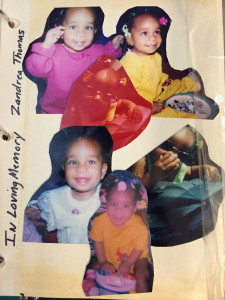 Zandrea Thomas' family had with them this montage of pictures of her as they watched the execution of the man that murdered her in 2000.