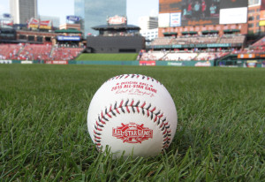 The Rawlings Sporting Goods Company has released the official baseball that will be used in the 2015 All Star Game, in St. Louis on June 26, 2015. The All Star Game will be held on July 14, 2015 at Great American Ball Park in Cincinnati.  Photo by Bill Greenblatt/UPI