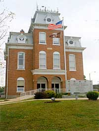 "The Dent County Commission has voted to lower the flags in front of the county's historic courthouse to ""mourn"" the U.S. Supreme Court ruling allowing same-sex marriage.  (photo courtesy; the Dent County website)"
