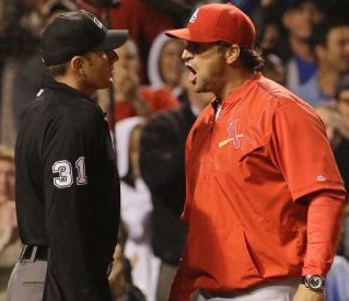 Mike Matheny defends his catcher and pitcher (photo/MLB)