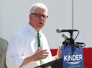 Missouri Lt. Gov. Peter Kinder announces he will seek the office of Governor during a press conference in Dellwood, Missouri on July 12, 2015. Kinder, who has been Lt. Gov since 2005 made his announcement near Ferguson, MO, the site of unrest and protests last year. Photo by Bill Greenblatt/UPI
