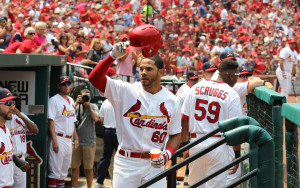 St. Louis Cardinals Tommy Pham Photo by Bill Greenblatt/UPI