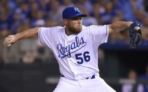 Greg Holland capped off a great night for the Royals bullpen (photo/MLB)