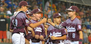 New England knocked out Webb City representing the Midwest, on Saturday in Williamsport, PA (photo, LLBWS.org)