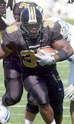 Zack Abron gained 138 yards in a win over the Blue Raiders in 2003 (photo/Mizzou Athletics)