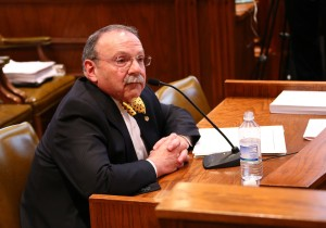 University of Missouri in Columbia Chancellor R. Bowen Loftin testifies to the Missouri Senate Interim Committee on the Sanctity of Life.  (photo courtesy; Harrison Sweazea, Missouri Senate Communications)