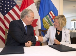 Agreement signing with Alberta Premier