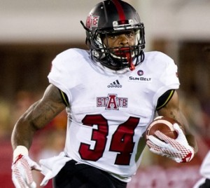 Michael Gordon is Arkansas State's top rusher (photo/astateredwolves.com)