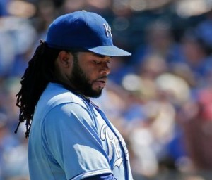 Johnny Cueto and the Royals are hoping he can work out of this new slump (photo/MLB)