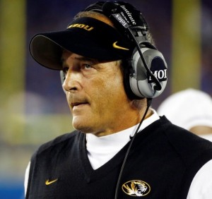 Gary Pinkel must rally his team to regroup in time for their game with South Carolina (photo/Mizzou Athletics)