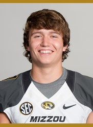 Drew Lock played in the first series of the 2nd quarter (photo/Mizzou Athletics)