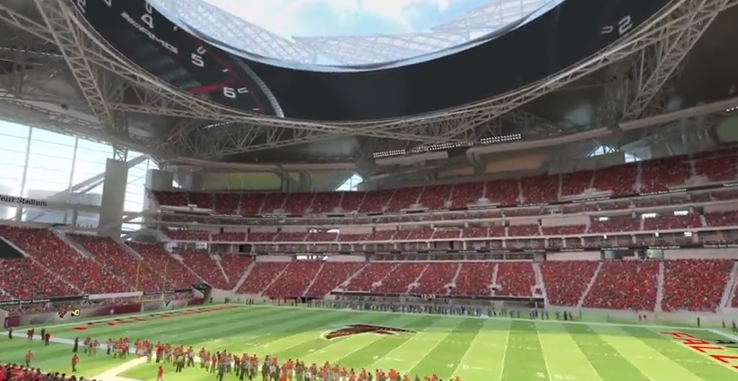 Sec championship game will remain in atlanta with new ten for Mercedes benz stadium atlanta capacity