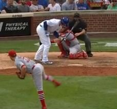 Anthony Rizzo tried to move out of the way of a Matt Belisle pitch