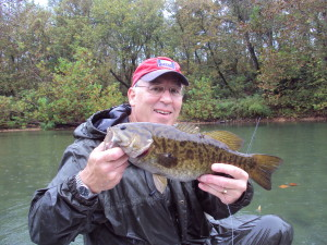 Smallmouth bass caught, photo courtesy Missouri Department of Conservation