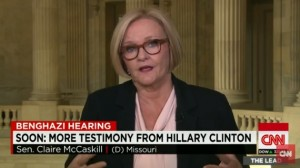 Senator Claire McCaskill spoke on CNN about Hillary Clinton's testimony on the Benghazi attack.