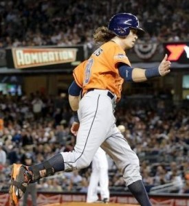 Former St. Louis Cardinals first round draft pick, Colby Rasmus, got the game winning RBI (photo/MLB)