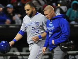 Kansas City's top RBI guy, Kendrys Morales needs to be healthy heading into postseason (photo/MLB)